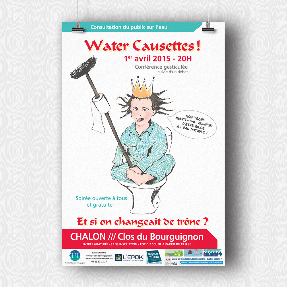 Affiche Water Causettes